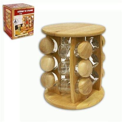 kořenky 12ks+dřev.polička