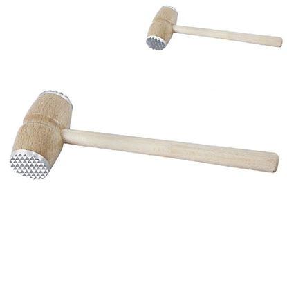 palička na maso kov/dřevo