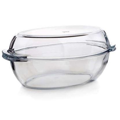 pekáč sklo ovál s víkem 4,15L