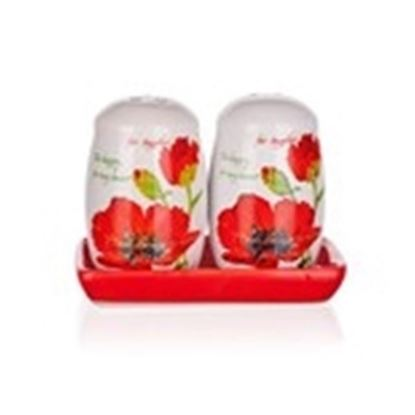 slánka a pepřenka keramika Red Poppy