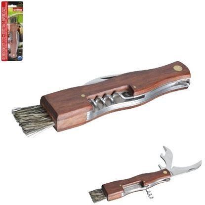 nůž houbařský+štetec,otvíráky
