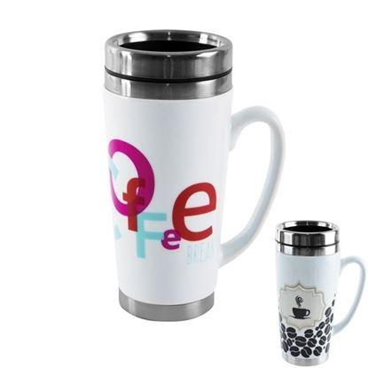 termohrnek keramika/nerez 0,45L Káva