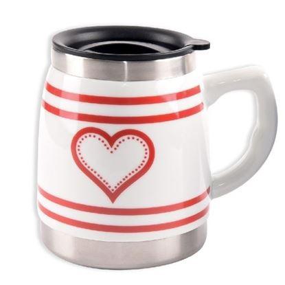 termohrnek keramika/nerez 0,5L Srdce