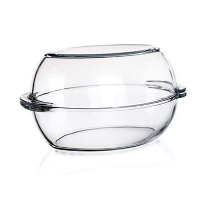 pekáč sklo ovál+víko 6L