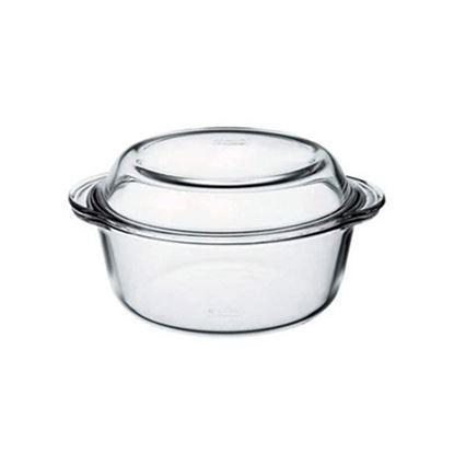pekáč sklo kulatý+víko 2,17L