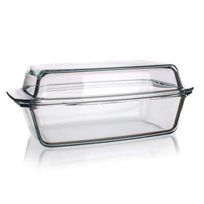 pekáč sklo hranatý+víko 5,4L