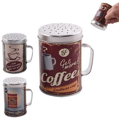 cukřenka plech pr.6,5cm Coffe