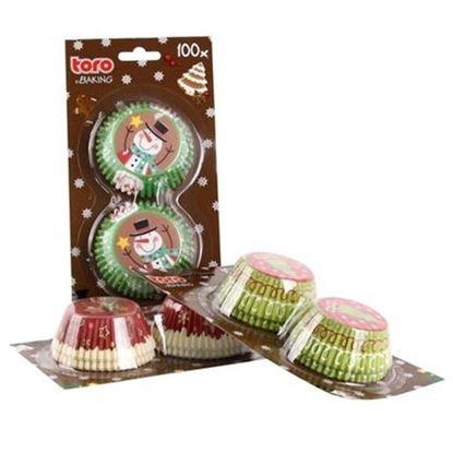 košíčky na muffiny 100ks Vánoce
