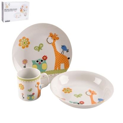 sada dětská 3díly porcelán ŽIRAFA