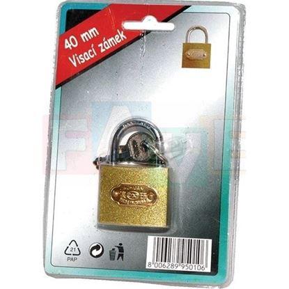 zámek visací 40mm 3 klíčky