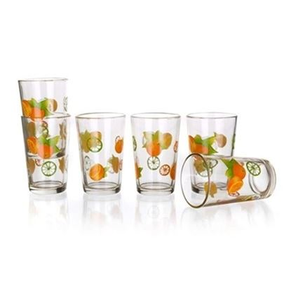 sklenice sada oranž 230ml 6ks