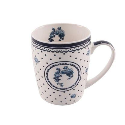hrnek porcelán 0,35l Modré tečky