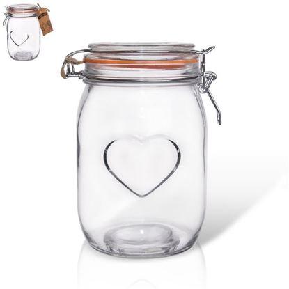 dóza sklo 1L patent Bela srdce