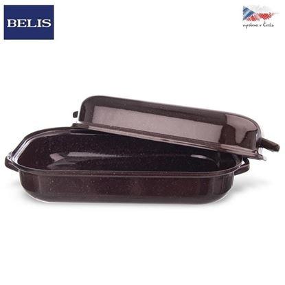 pekáč smalt hnědý BELIS 27,5x18,5