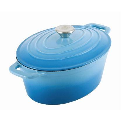 pekáč litina+pokl.36cm modrý