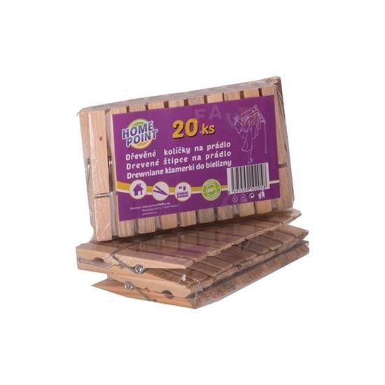 kolíčky na prádlo dřevo 20 ks