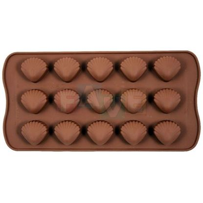 silikon forma mušle na čokoládu, pralinky,