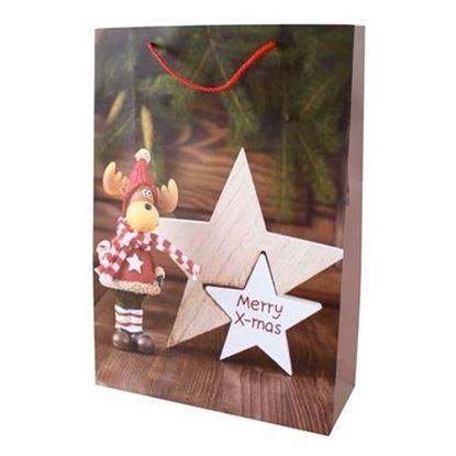 taška vánoční papírová 44x31