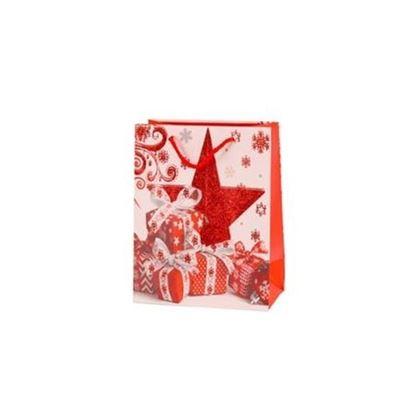 taška vánoční papírová 23x18 cm