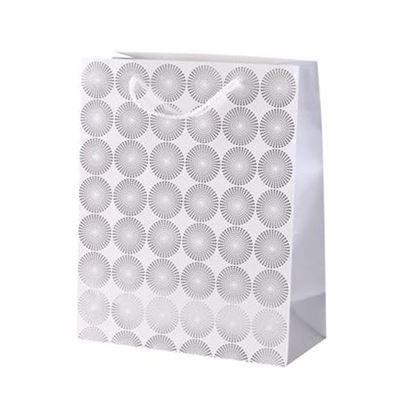 taška dárková geometrická 32x26 cm