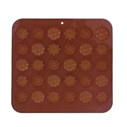 silikon forma na čokoládu kytičky