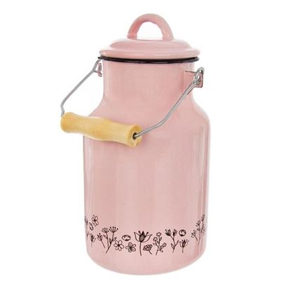 konvice na mléko smalt růžová LOUKA 2l
