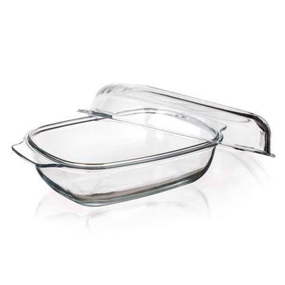 pekáč sklo s víkem 5,7L