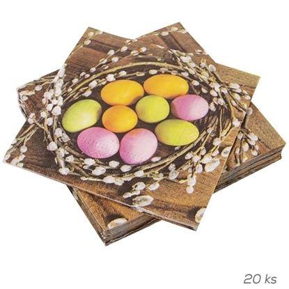 ubrousky vajíčka v hnízdě 20 ks 33x33 cm