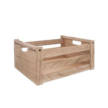 bedýnka dřevo natural 26x26x12 cm