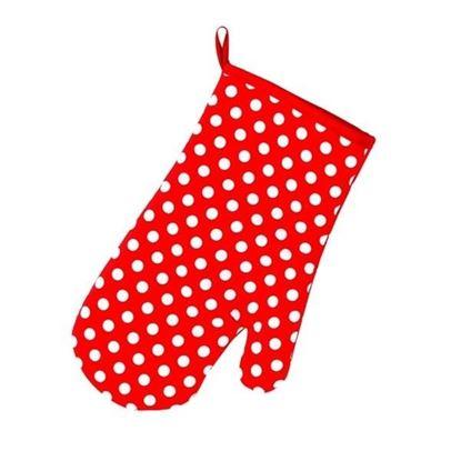 chňapka červená s puntíkem+magnet