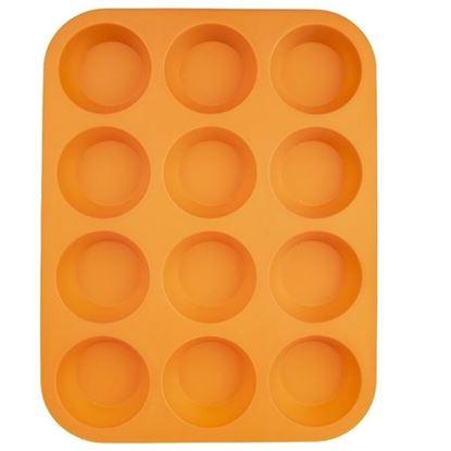 silikon forma muffiny 12ks plát oranžová