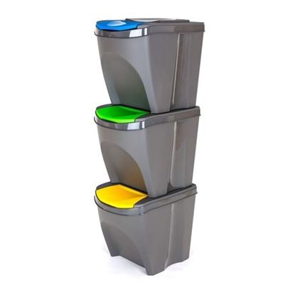 koše na tříděný odpad SORTBOX 3x25L