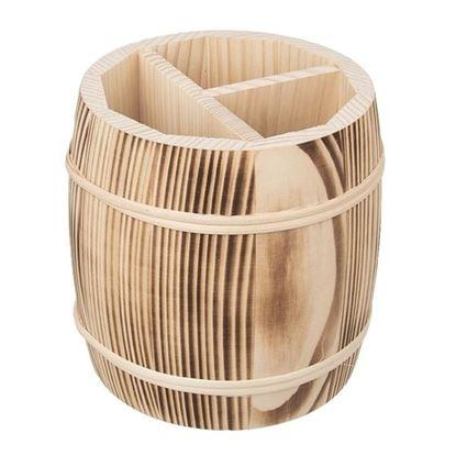 stojan na příbory dřevo