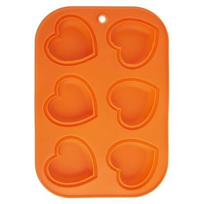 silikon forma SRDCE 6 ks oranžová