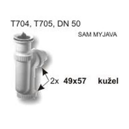 těsnění 57x49 kužel L1/190